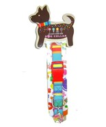 Dylan's Candy Bar Dog Collar w Charm ID Tag Stripes Large  - $12.92 CAD