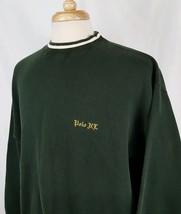 Polo Ralph Lauren Crew Neck Sweatshirt XL Green White Gothic Script Spellout - $29.99
