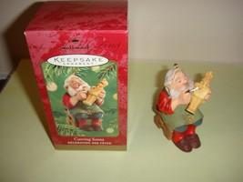 2001 Hallmark Carving Santa Ornament, 2001, NIB - $11.89