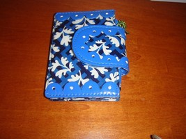 Vera Bradley Blue Lagoon Frill Pretty & Petite Card Holder - $15.49