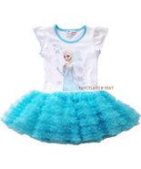 NEW DISNEY PRINCESS Frozen ELSA Baby Girls Tutu Tulle Dress Top Size 4-6X - £17.25 GBP