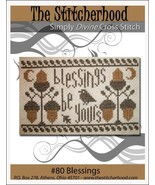 Blessings autumn thanksgiving primitive cross stitch chart The Stitcherhood - $7.20