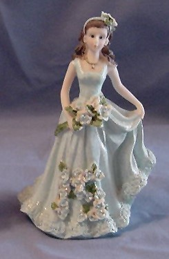 Primary image for Quinceanera Cake Topper Figure 15 Blue Dress