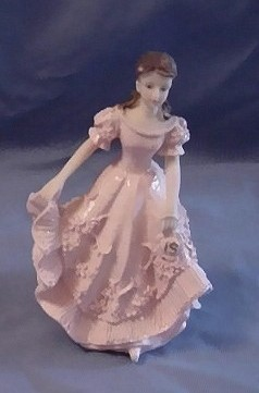Primary image for Quinceanera Cake Topper Figure Pink Dress 15