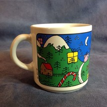 Happy Holidays Coffee Mug Cup Houze Alan Wood - $29.21