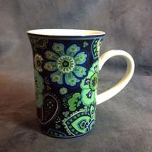 Vera Bradley for Barnes and Noble Coffee Mug Blue Rhapsody Paisley - $29.21