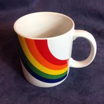 Pride Rainbow Colors White Coffee Mug FTDA - $24.50