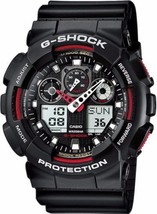 Casio G-Shock GA100-1A4 Red Black Analog/Digital Men's Watch - $74.25