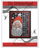 Ho Ho Ho santa christmas primitive cross stitch chart The Stitcherhood - $7.20