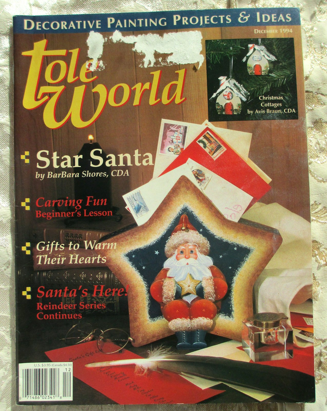 Primary image for Tole World -- Back Issue, Dec., 1994, Volume 18, Number 6,  Issue 131, Painting