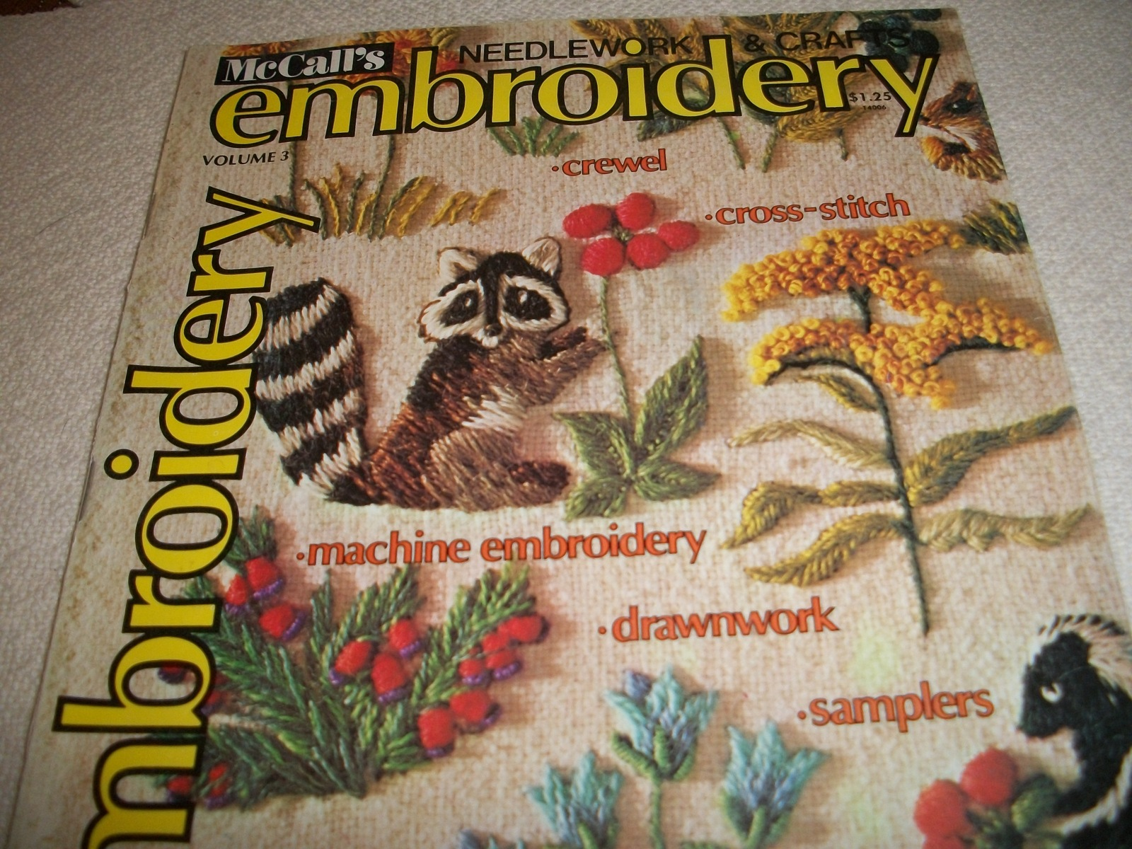 Primary image for McCall's Needlework & Crafts Embroidery Volume 3