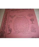 Southwest Cactus Iron On Transfer Book - $5.00
