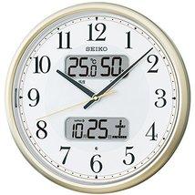 SEIKO CLOCK ( Seiko clock ) calendar temperature and humidity meter with automat - $142.39