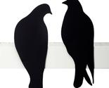 Love Gifts Design Birds Wall Decor Shelf Sculpture Roman 2 Metal Pigeons Doves