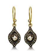 VINTAGE INSPIRED 1.24CT. ROSE CUT DIAMOND POLKY ANTIQUE EARRINGS VTJ EHS - $240.33