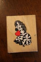 Dakin Inc Zebra with Heart Mounted Rubber Stamp - $4.99