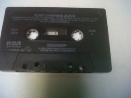 Elvis Presley Christmas Album 1985 Cassette black rca santa claus bethle... - $5.99