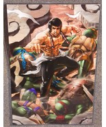 Bruce Lee vs TMNT Glossy Print 11 x 17 In Hard Plastic Sleeve - $24.99