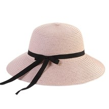 Women Travel Floppy Sun Hat Bowknot Design Summer Foldable Beach Ladies Straw Ad image 2
