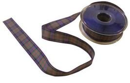 Scottish Tartan Red Green Blue Black Reversible Ribbon 25mm 4 Lengths - $4.80+