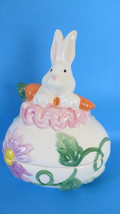 David's Cookies Ceramic Easter Bunny - Egg Shaped Candy Dish  #3 - $9.49