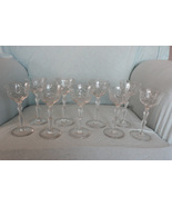 Rare Vintage Pineapple Cut Crystal Cocktail Stemware - $155.00