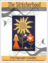 Hannah's Garden primitive cross stitch chart The Stitcherhood - $7.20