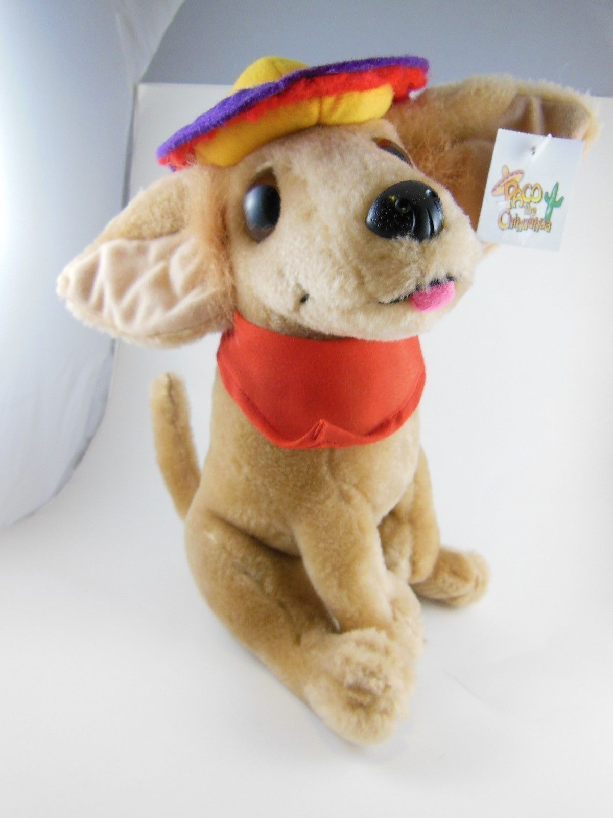 "Primary image for 9"" Paco The Chihuahua Plush  Nanco 1998 Mint With Tag Awessome!"