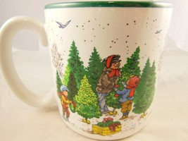 Beautiful Vintage Christmas Mug Cup Children Decorate Tree Potpourri Pre... - $10.39