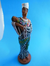 "8"" African Mother with Baby child figurine Elegant - $13.45"