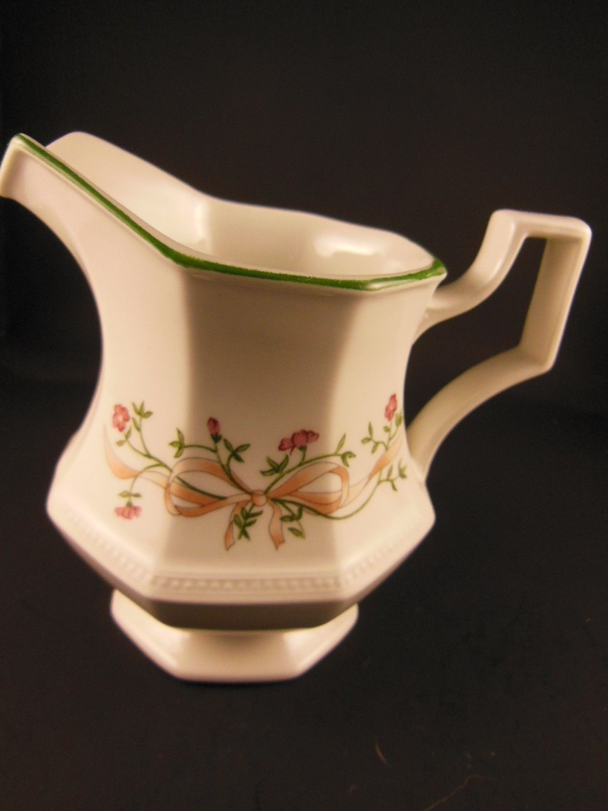 Primary image for English Creamer Eternal beau Bow Ribbon Johnson Brothers Made in England