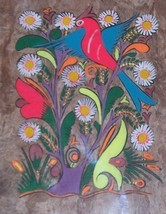 COLORFUL AMATE BARK MEXICAN LATINO FOLK ART PAINTING - $182.24