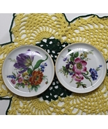 Two Vintage Furstenberg W. Germany Porcelain Floral Coasters/Pin Dishes - $10.00