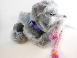 "Adorable 10"" FurReal Friends Grey Interactive Dog Hasbro 2007 Batteries ... - $11.08"