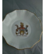 "Bone China Taylor & Kent Longton England British Columbia 4"" trinket, ca... - $3.70"