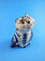 "Cabo San Lucas 3.75"" Cat  Mexican Pottery Signe... - $10.39"