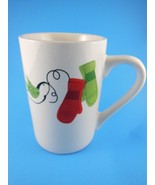 Awesome 10 oz   Green & Red Mittens   Starbucks Mug Cup  Christmas 2011 - $5.53