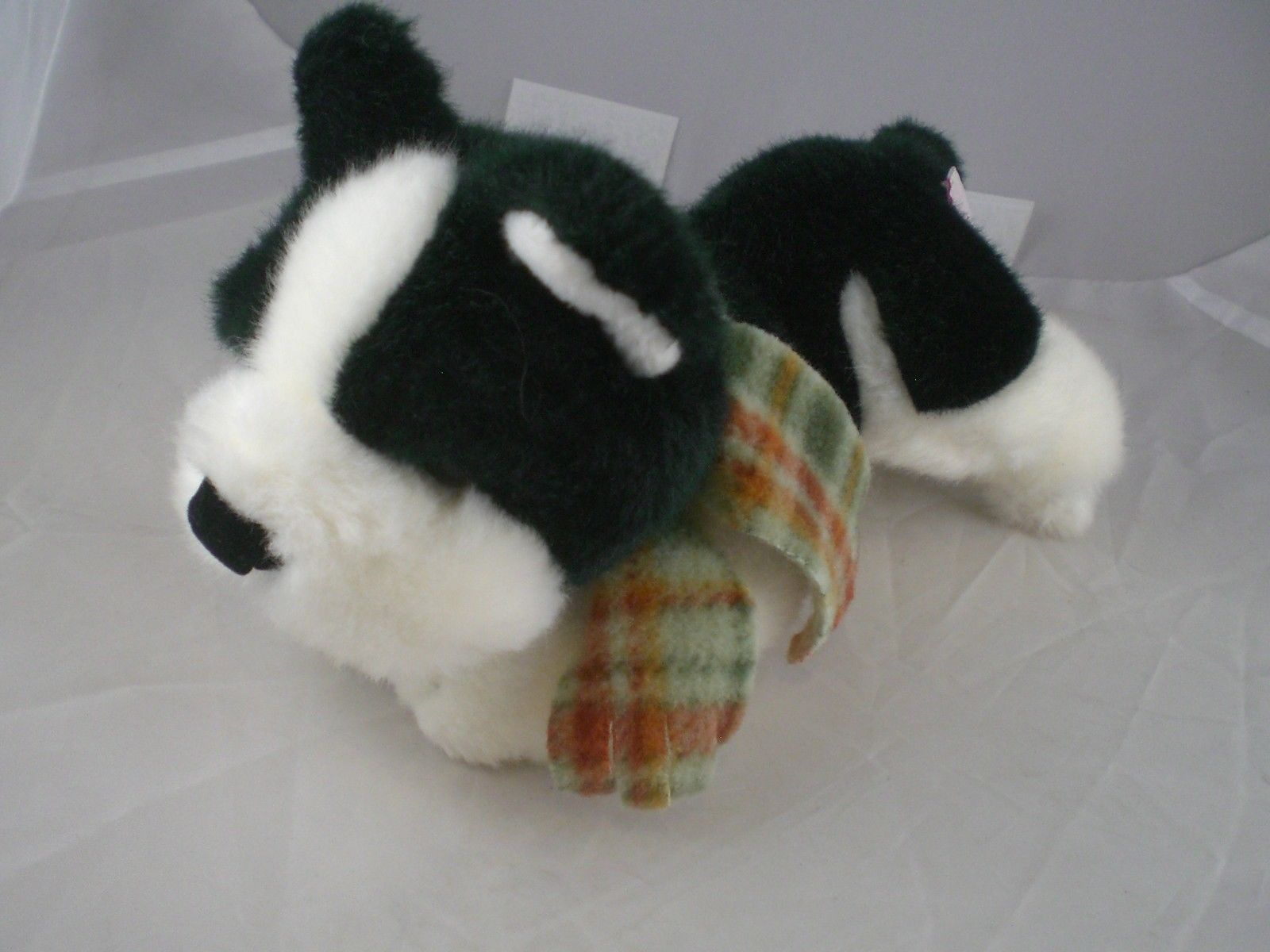 "Primary image for Russ dog 7-8"" long Black and white with scarf excellent clean condition"
