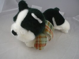 "Russ dog 7-8"" long Black and white with scarf excellent clean condition - $5.53"