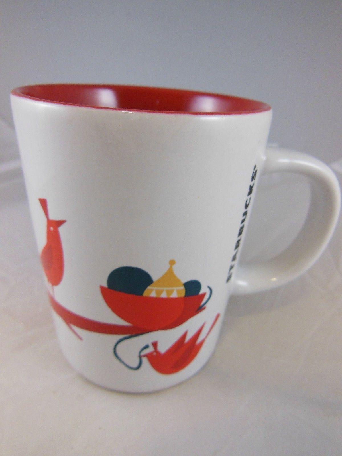 Beautiful Starbucks Christmas Mug With Red Birds Starbucks