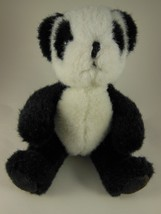 "Adorable Russ Berrie 6"" Sitting Panda with  Suede Foot Pads - $9.25"