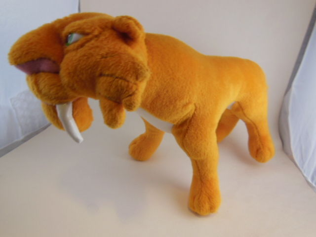 """Ice Age Diego Sabertoothed Tiger plush 12"""" Mattel 2005 Great face, Excellent - $9.94"""