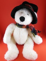 "Adorable 14"" Russ Berrie Christmas Teddy Bear Plush ""Topper"" - $16.57"