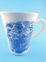 English Tea coffee mug Cup Blue & White Toille Carriage & Mansion Scene ... - $4.15