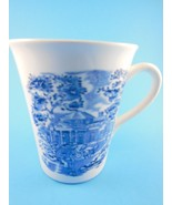 English Tea coffee mug Cup Blue & White Toille Carriage & Mansion Scene ... - $4.15