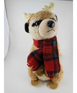 "Meerkat 9""  Plush with Reindeer Antlers  & Christmas Scarf Aurora Toys A... - $9.94"