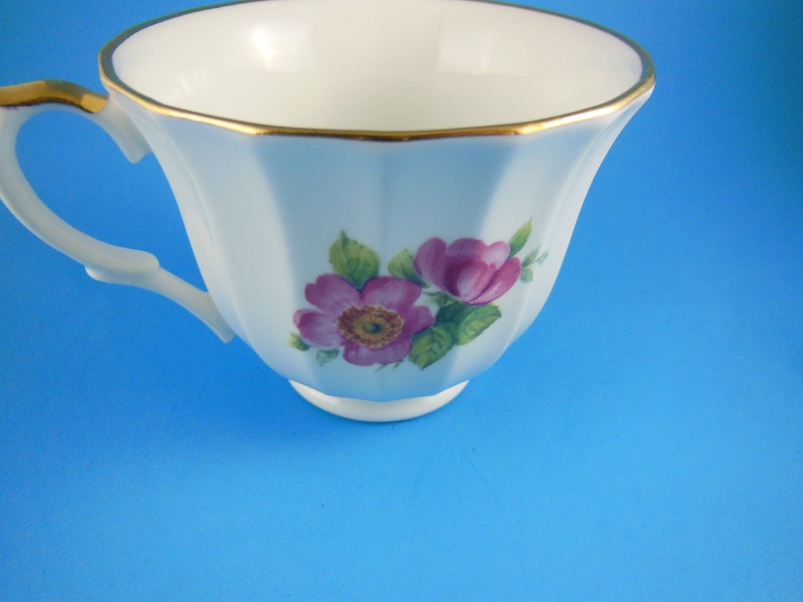 Primary image for Staffordshire England Beautiful Fine Bone China Tea Cup  Gold Trim Crown Trent