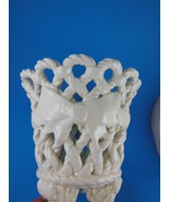 Spanish Porcelain Basket Rope Pattern  Made in Spain 5.5 H x 6.5 W top B... - $17.32