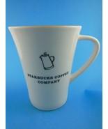 Rare HTF Starbucks Coffee 14 Oz Tall Coffee Mug White Outside Yellow Ins... - $10.39