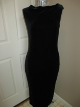 DKNY Black Velvet Sleeveless Dress Size P No slits Label reads : DKNY  s... - $17.99